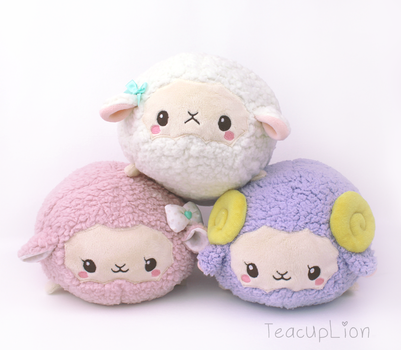 Sheep Roll plushie pattern by TeacupLion
