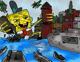 Sponge Attack by DirtyColumbus