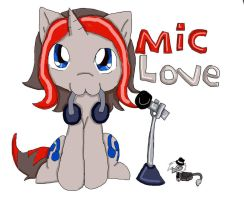 chibi mic the microphone by queenmafdet