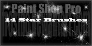 Paint Shop Pro Star Brushes by FrostBo