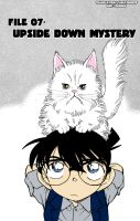 Conan and a fluffy kitty by hallow777