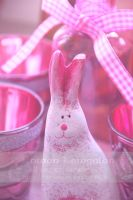 Pink Easter Greeting by RowanLewgalon