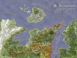 Bizantium and its Colonies Map (Color) by FeroceFV
