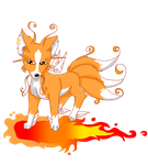 Mystic Fire Fox by LilRedRoses