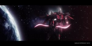 Scimitar Gundam In Space by RobotechGenesis