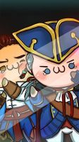 Haytham and Connor wallpaper for mobile phone by Mcpricorn