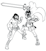 WIP : Gwapoman and Morion by wansworld