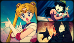 Sailor Moon poses by CrimsonsArrow