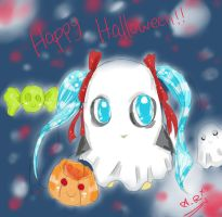Miku VocaPenguin wish you a Happy Halloween! by sugarskeleton