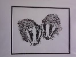 Badgers (Broch) by Anne-Wyborn-Young