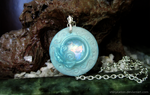 OOAK Faux Opal Pendant by ShinyCation
