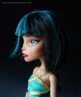 Monster High Doll repaint for customer by Rhaeenys