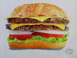 A Hamburger - Prismacolor Pencils by f-a-d-i-l