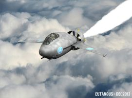 Steam-powered parasite fighter by CUTANGUS