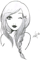 Girl lineart by NeededSimplicity