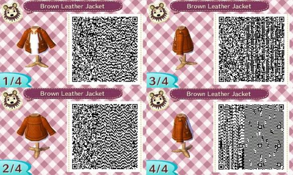 AC:NL QR Brown Leather Jacket Male Ver. by SihaRakhet