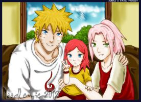 NaruSaku family portrait by noodlemie
