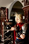 Kingdom Heart : Cloud Strife by pinkyluxun