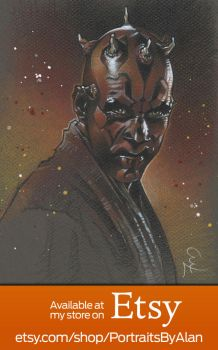 Darth Maul - Original Ray Park Portrait by PortraitsByAlan