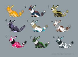 Spring Hare Adoptables 2 OPEN by animalartist16