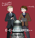 Bond and Q ... and a dalek by ice-cream-skies
