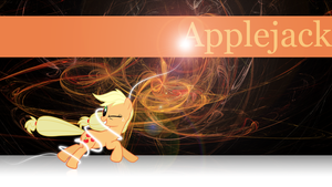 Running Applejack Wallpaper by Silentmatten