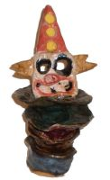 Evil Clown Column by aberrantceramics