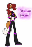 Thalium Darner, the Daughter of Fire and Lightning by KittyDarner