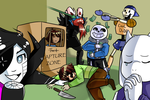 [Undertale] draw the squad like this by Cloudy-Eevee