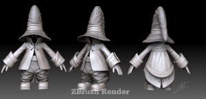 Vivi Fan Art Zbrush Render by John-Lozano