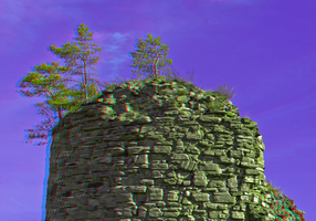 Fortress Regenstein III 3D ::: Stereo Anaglyph HDR by zour