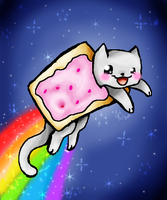 Nyan Cat by orangecorgi