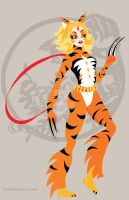 Tiger Warrior Chinese Zodiac by remdesigns