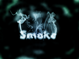 Smoke typography experiment by Raineshine