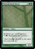 MtG Cards - Thickskinned Sliver by E-n-S