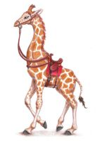 Young Riding Giraffe by crymsonwolfe
