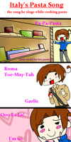 Italy's Pasta Song by ImMixyAndImBlue