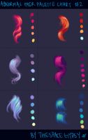 Abnormal Hair Color Palettes: Supplement Chart #2 by StarshipSorceress