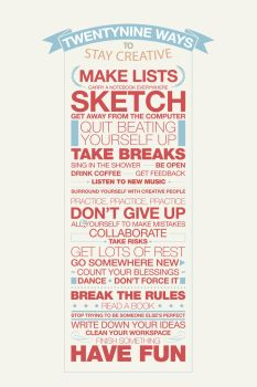 29 Ways to Stay Creative by edhall