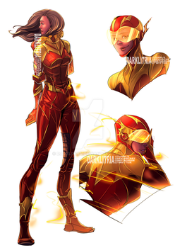TheFlash: Iris West as Flash by DarkLitria