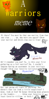 warriors meme by ask-female-scourge