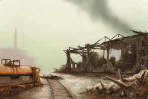 Stalingrad rail yard by derbz