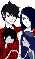 Marshall Lee and Marceline by Kana-chan23