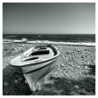 Rowboat on the seashore by Pajunen