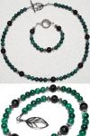 SET: Malachite, onyx, silver by LissaMonster