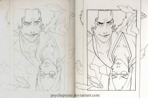 Mugen-Jin Sketch and Ink by psychepirate