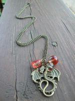 GoT: Targaryen Mother of Dragons Copper Necklace by RSuzanne