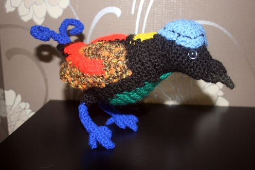 Crocheted Wilson's Bird of Paradise by Soggy-Wolfie