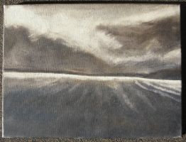 Landscape underpainting by panine