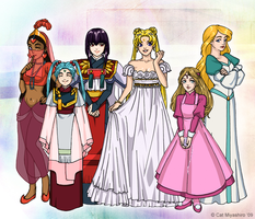 My Childhood Princesses by KittyCatKissu